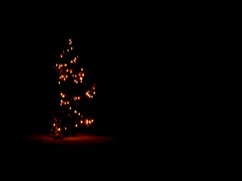 Dark Christmas.Merry Christmas Even When Silent Nights Are Cold And Dark