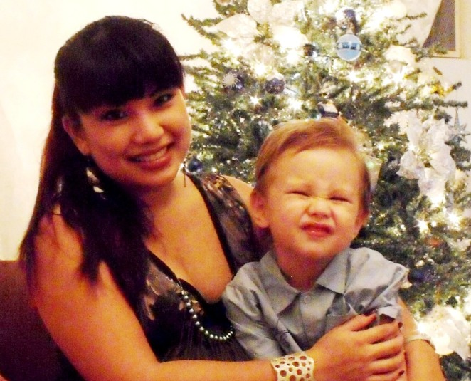 7 months pregnant in December--Karsten turned 3 on December 22!