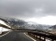 The winding, still snowy road through the Alpine border into Northern Italy--our car was packed gypsy-style!