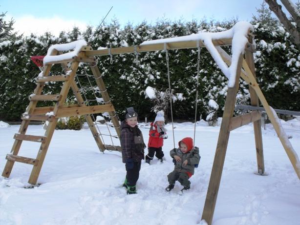Snow in Sachsen