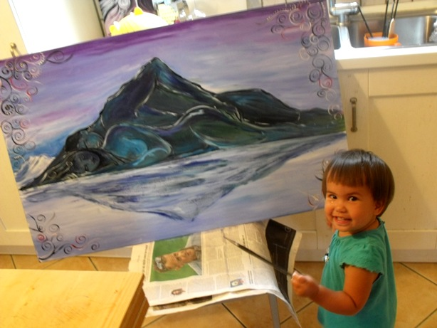 painting the mountain